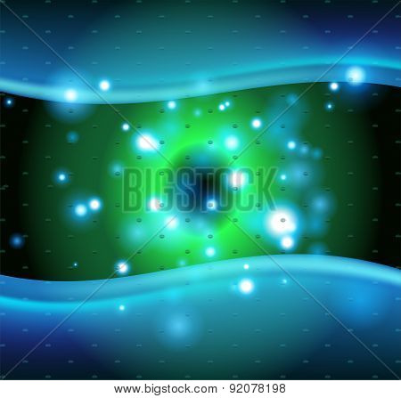 Abstract design with blue dots background