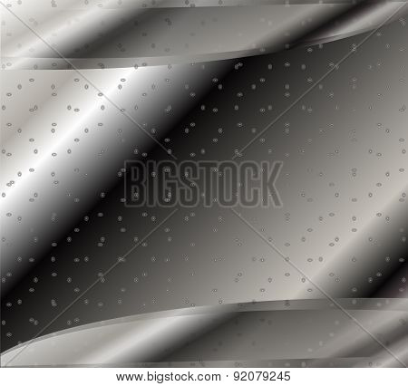 Hi-tech black and white background illustration template