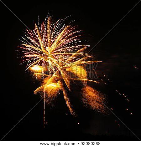 3d fireworks trembling
