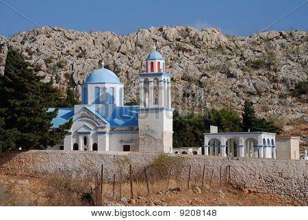 Emborio cemetery, Halki island