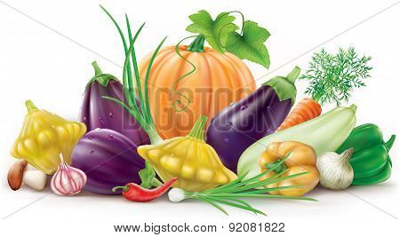 Colorful Different Vegetables