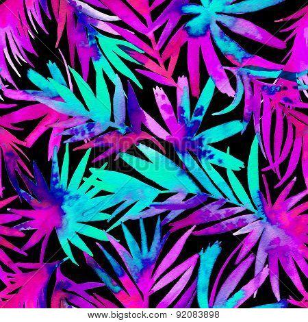 Seamless Palm Pattern.