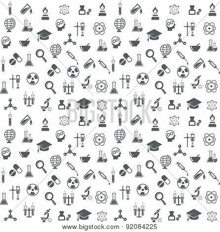 Science and technology seamless vector background
