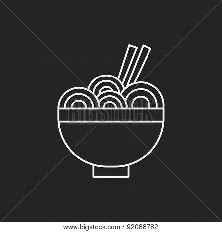 Noodle Line Icon