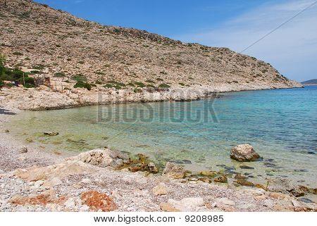 Kania beach, Halki island