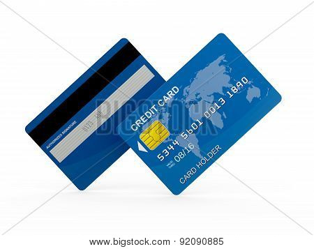 Credit Card, Front And Back