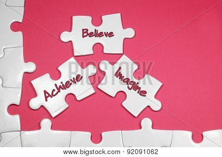 Achieve Believe Imagine Text - Business Concept