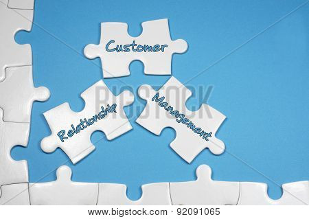 Customer Relationship Management Text - Business Concept