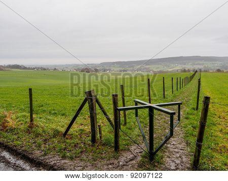 Empty Meadows In Limburg
