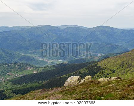 French Villages In Vosges Mountains, France