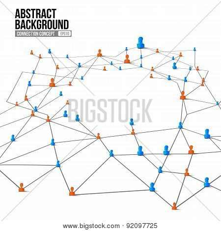 Connection Concept Abstract Background Grey Line And Dot Element 002
