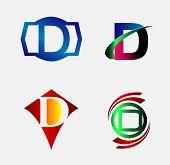 stock photo of letter d  - Set of Logo D Letter company vector - JPG