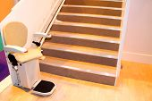 pic of lifted  - An Electric Powered Assistance Stair Lift with Seat - JPG