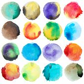 picture of significant  - Watercolor Colorful Circles Big Set - JPG