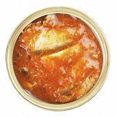 foto of hermetic  - opened tincan with fish - JPG