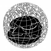 stock photo of population  - Hand drawn Population of Our World  - JPG