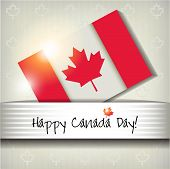 picture of canada maple leaf  - Happy Canada Day card or ackground - JPG