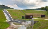 picture of dam  - Diverted water at the dam - JPG