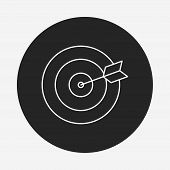 image of archery  - Archery Line Icon - JPG