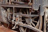 image of locomotive  - Steam locomotive rusting for ages - JPG