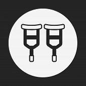 stock photo of crutch  - Crutch Icon - JPG