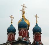 foto of cupola  - image of cupola of church with crosses - JPG