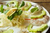 picture of shrimp  - raw shrimp and spicy sauce seafood thailand  - JPG