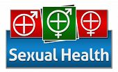 picture of std  - Sexual Health Symbol in White with Medical Cross and Male female symbol - JPG