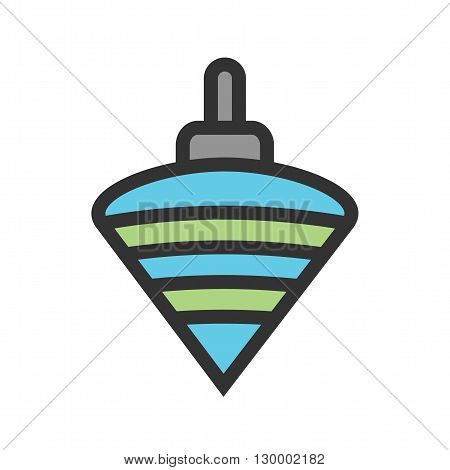Toy, spin, top icon vector image.Can also be used for baby. Suitable for mobile apps, web apps and print media.
