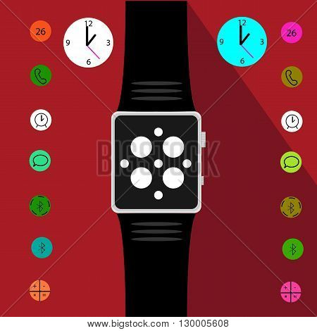 Set of Intellectual watches. Vector illustration eps 10
