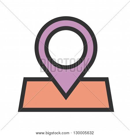 Marked, roadmap, route icon vector image.Can also be used for maps navigation. Suitable for mobile apps, web apps and print media.