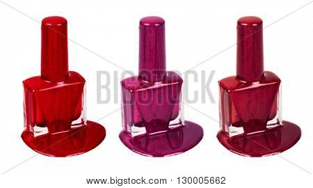 Three types of nail polish
