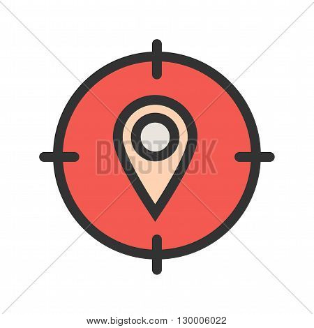 Maps, target, area icon vector image.Can also be used for maps navigation. Suitable for mobile apps, web apps and print media.