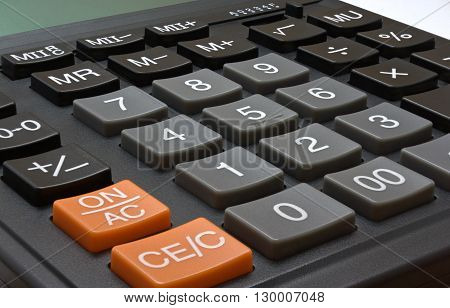 Calculator for accountant with big depth of the sharpnesses