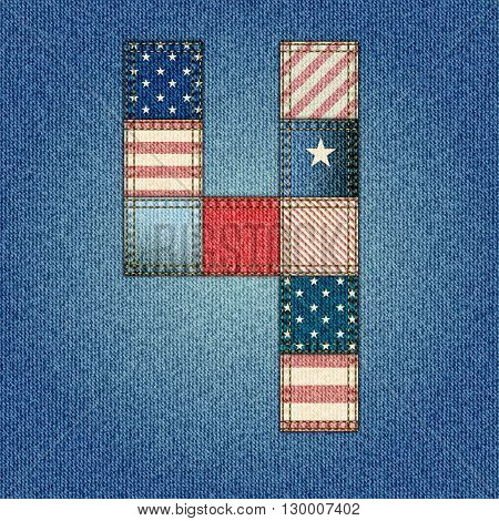 The fourth of July, American Independence Day background vector in a pathwork style