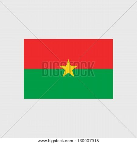 Set   vector icons with Burkina Faso flag