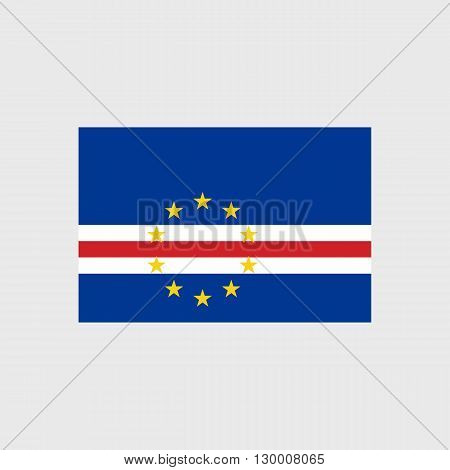 Set   vector icons with Cape Verde flag