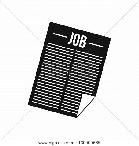 Job vacancy icon in simple style isolated on white background
