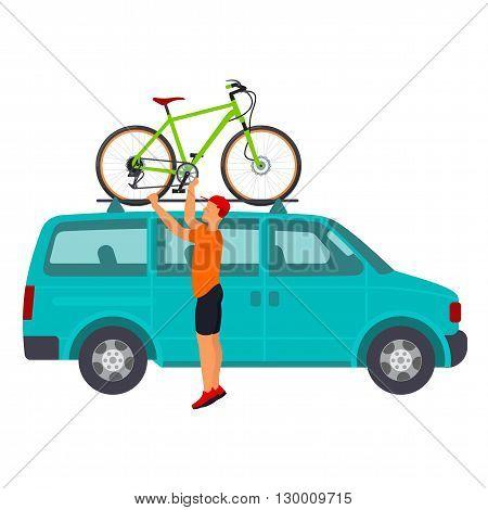 Bicycle Travel. Minivan