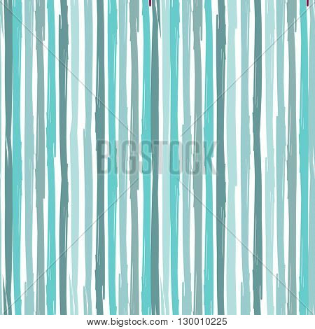 Vertical Seamless striped pattern. Hand painted with ink brush stroke. Blue color stripes on white background. Can be used for prints,  baby shower invitation, birthday card, scrapbooking designs.