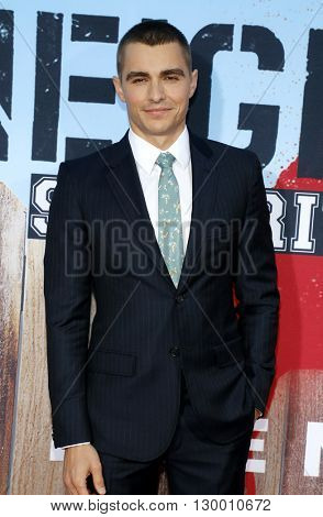 Dave Franco at the Los Angeles premiere of 'Neighbors 2: Sorority Rising' held at the Regency Village Theatre in Westwood, USA on May 16, 2016.