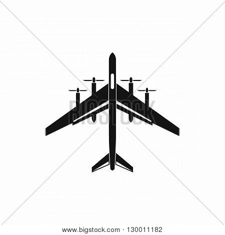 Fighter plane icon in simple style on a white background