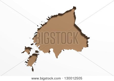 Silhouette Of  Estonia Map