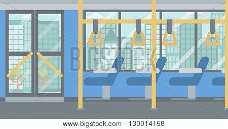 Background of modern empty city bus.