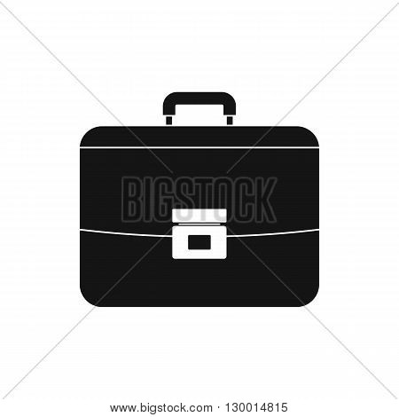 Business briefcase icon in simple style on a white background