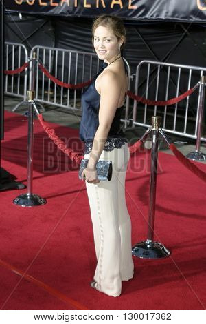 Erika Christensen at the Los Angeles premiere of 'Collateral' held at the Orpheum Theatre in Los Angeles, USA on August 2, 2004.