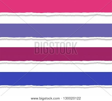 Torn paper with ripped edges vector web banners set. Torn paper stripes, torn paper pieces. Template background, torn paper dividers, torn paper headers for website