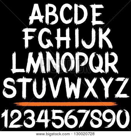 Grunge Storkes Alphabet. Ready for Your Text and Design.