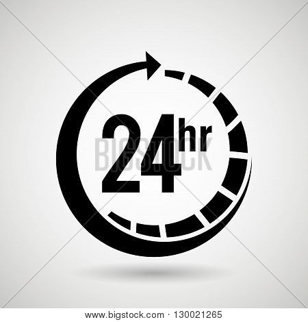 service 24 hours  design, vector illustration eps10 graphic
