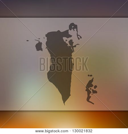 Blurred background with silhouette of Bahrain.